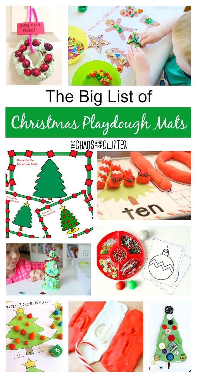 The Big List Of Christmas Playdough Mats - Free Printable Playdough Mats