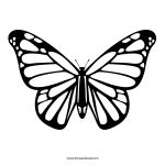 The First Stencil Shaped Like A Monarch Butterfly. Description From   Free Printable Butterfly Cutouts