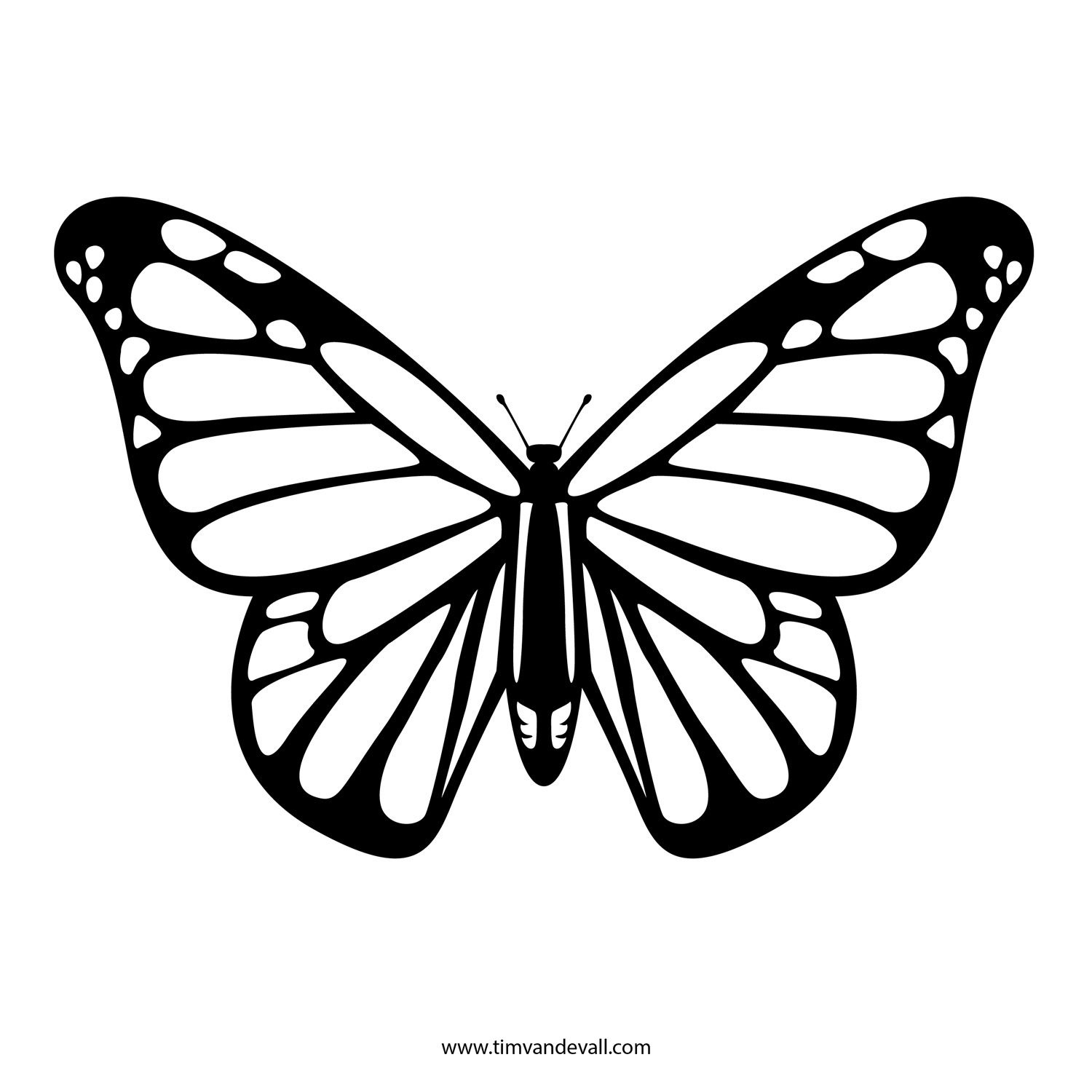 The First Stencil Shaped Like A Monarch Butterfly. Description From - Free Printable Butterfly Cutouts