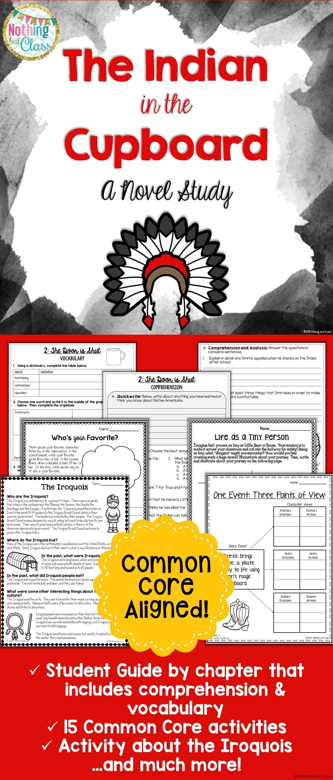 The Indian In The Cupboard Novel Study Unit: Comprehension - Indian In The Cupboard Free Printable Worksheets