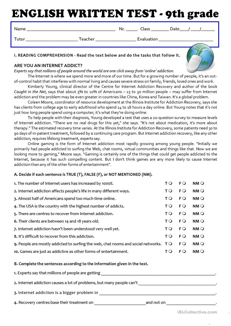 photo regarding 9th Grade Printable Worksheets Free named 9Th Quality English Worksheets Absolutely free Printable No cost Printable