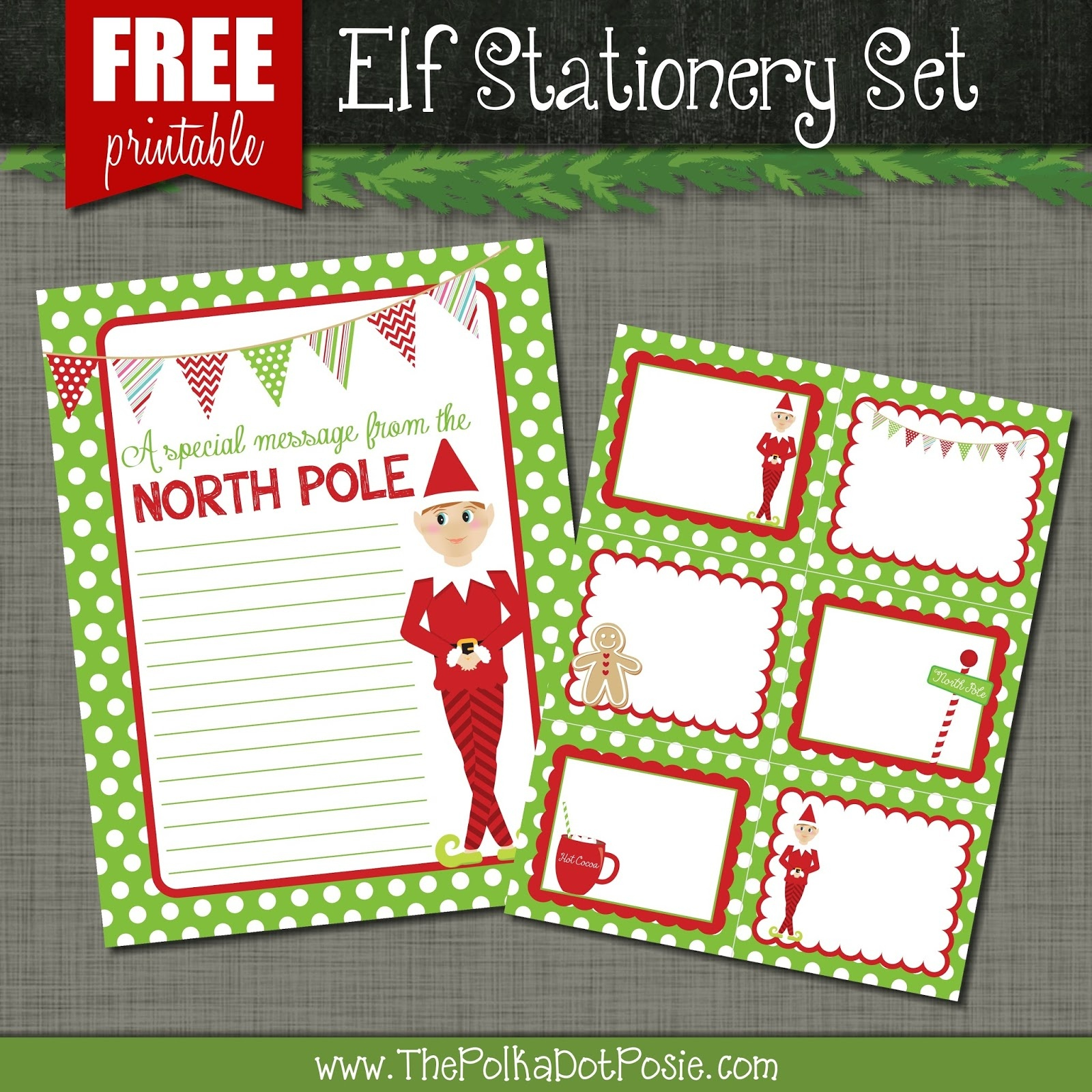 The Polka Dot Posie: Free Printables For Your Christmas Elf - Free Printable Elf Pattern