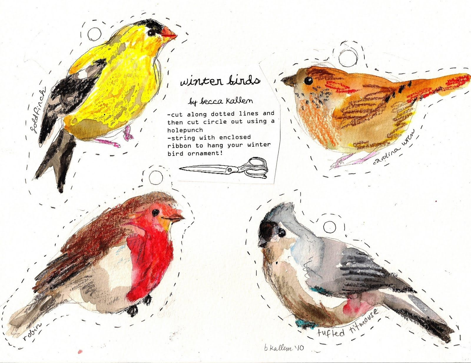 These Are My Holiday Cards For 2010: Various Winter Birds. You Can - Free Printable Images Of Birds