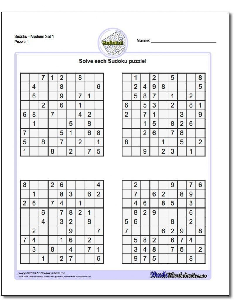 These Printable Sudoku Puzzles Range From Easy To Hard, Including - Free Printable Sudoku 6 Per Page