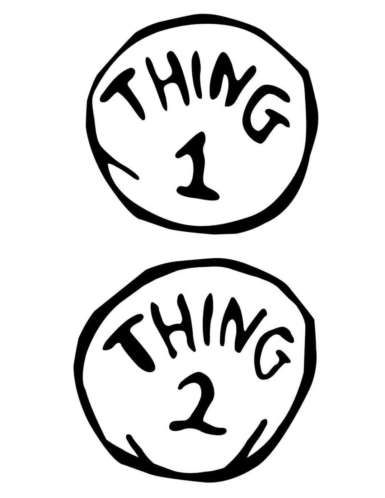 Thing 1 And Thing 2 Printable | Free Download Best Thing 1 And Thing - Thing 1 And Thing 2 Free Printable Template
