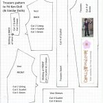 This Is A Free Pattern For A Renaissance Doublet And Trousers That   Ken Clothes Patterns Free Printable