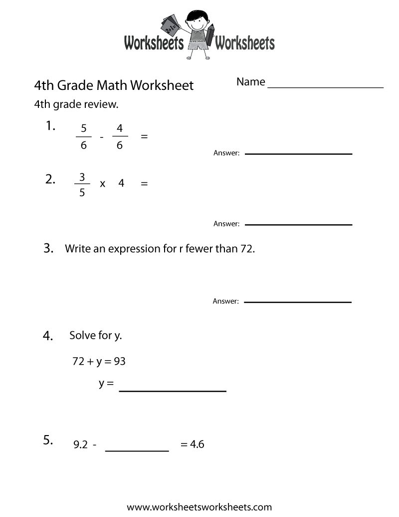 This Is A Link To Some Great Worksheets You Could Use For Morning - Free Printable 4Th Grade Morning Work