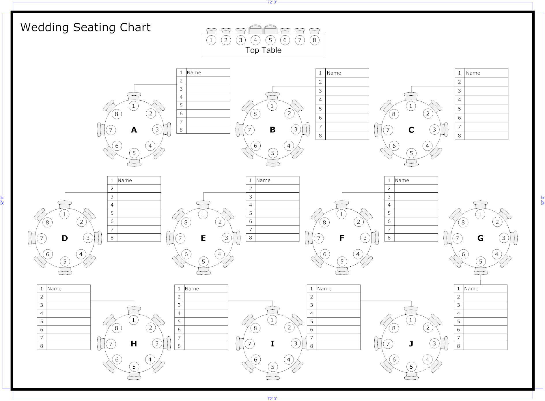 Tips To Seat Your Wedding Guests   Wedding Ideas   Seating Chart - Free Printable Wedding Seating Chart Template