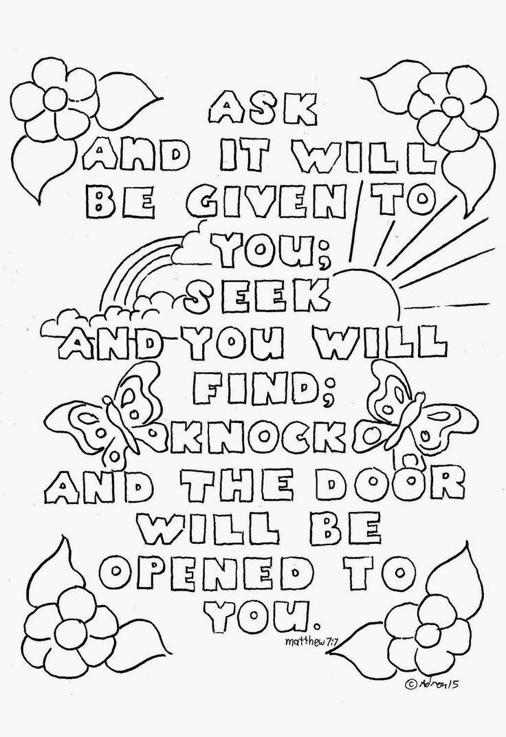 Top 10 Free Printable Bible Verse Coloring Pages Online | Coloring - Free Printable Christian Coloring Pages