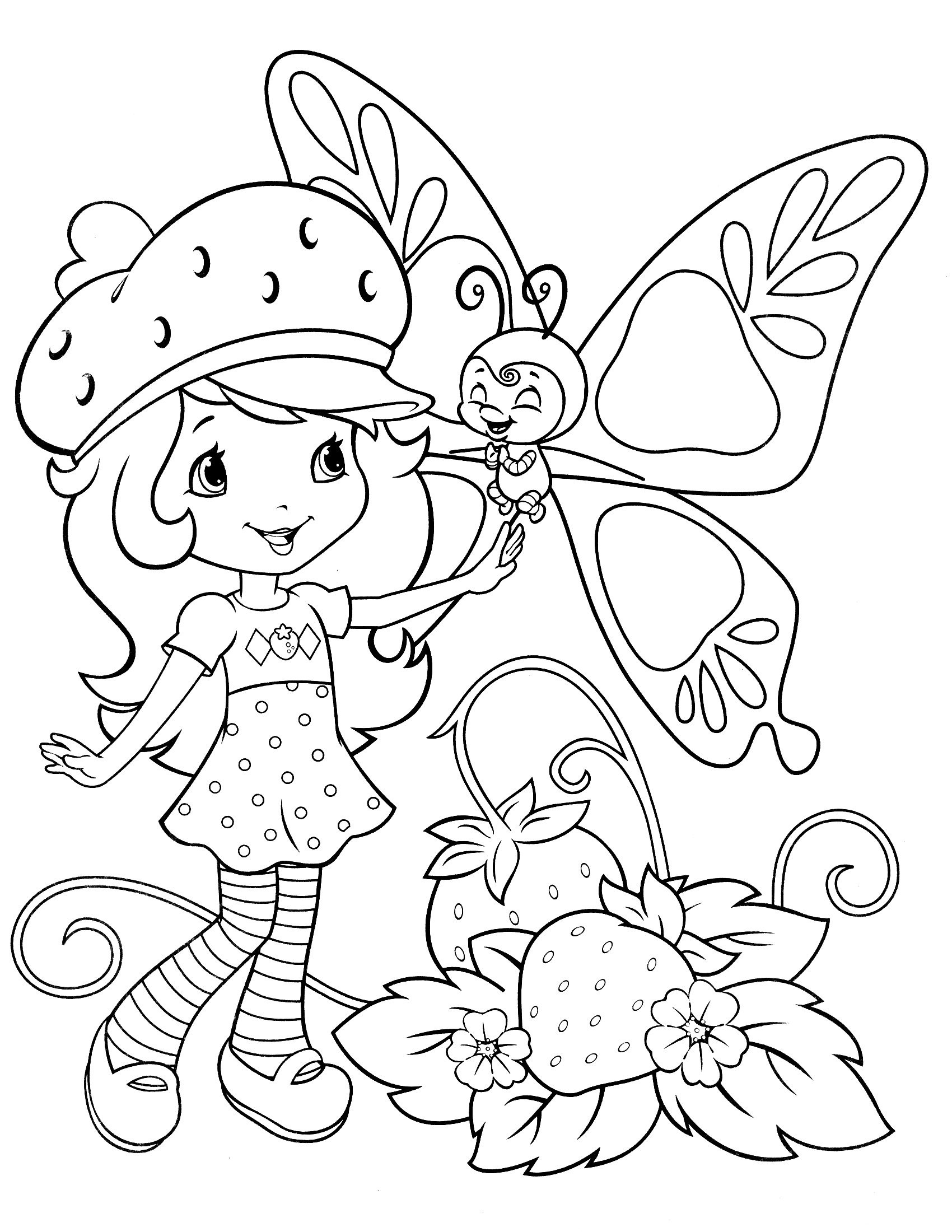 Top 20 Free Printable Strawberry Shortcake Coloring Pages - Strawberry Shortcake Coloring Pages Free Printable