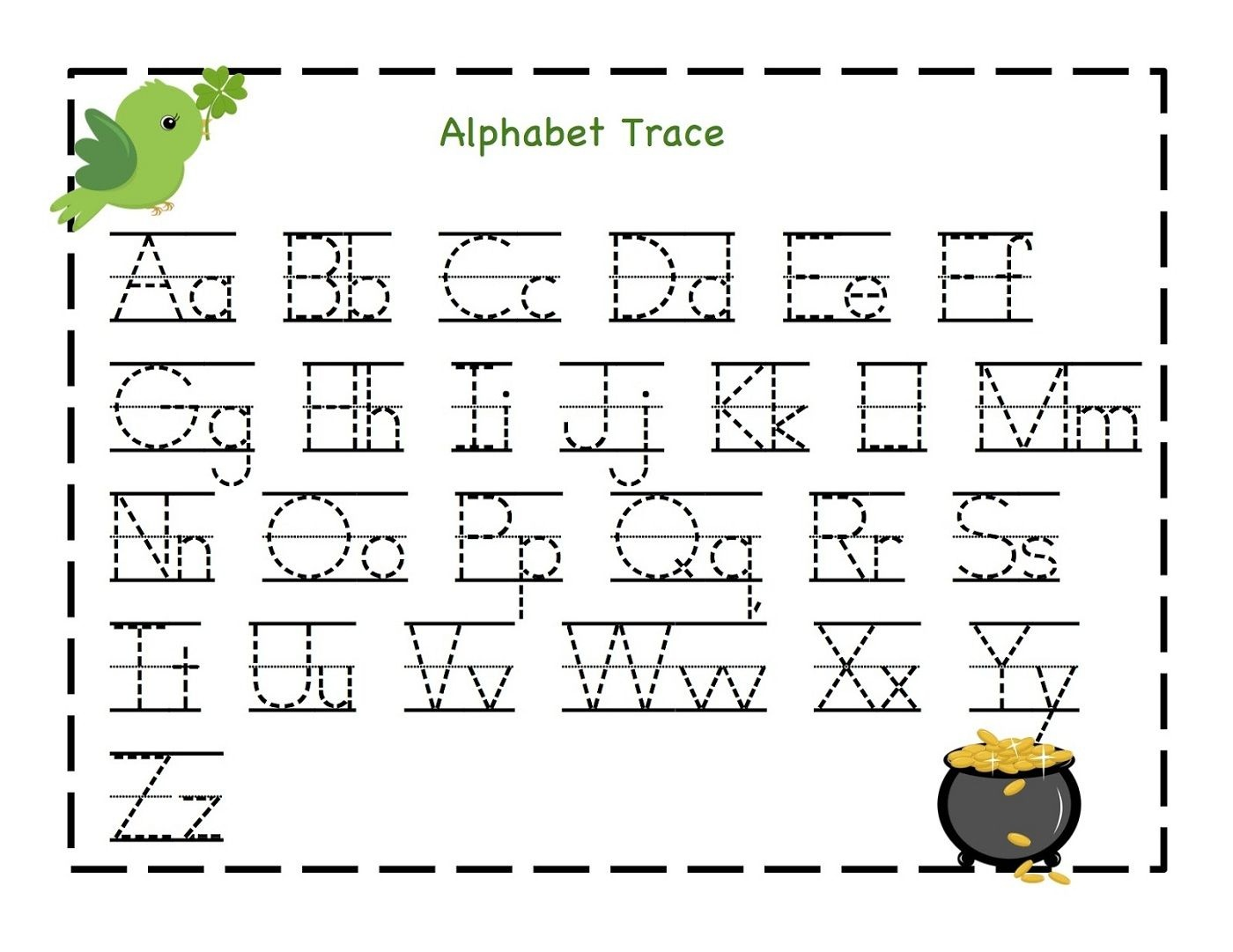 Traceable Letter Worksheets To Print | Schoolwork For Taj And Bre - Free Printable Tracing Letters And Numbers Worksheets