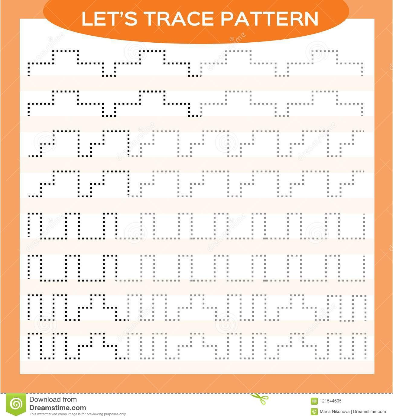 Tracing Lines Activity For Early Years. Special For Preschool Kids - Free Printable Fine Motor Skills Worksheets