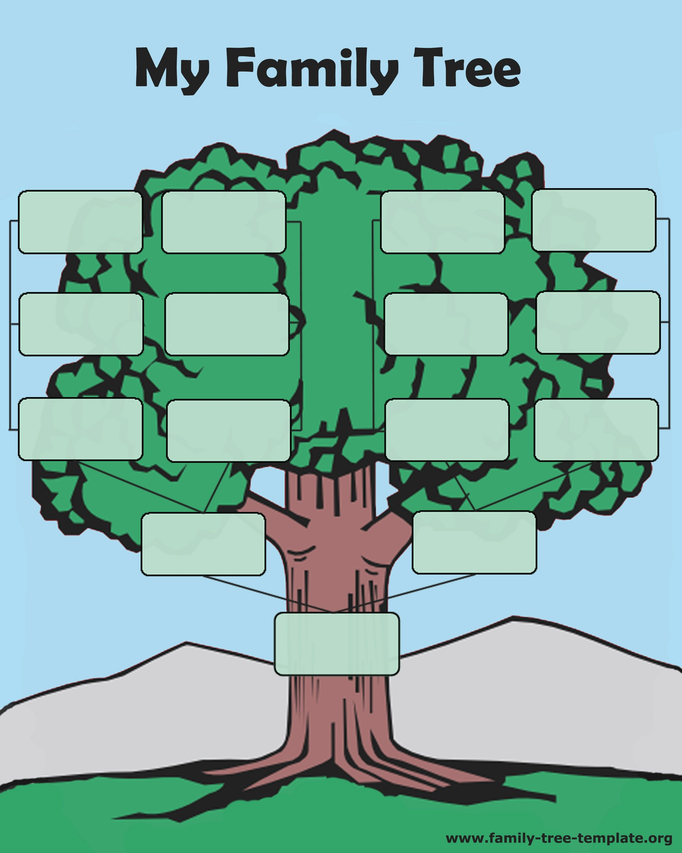 Tree Forms To Print And Fill Out Another Printable Oak Tree Chart - Family Tree Maker Free Printable