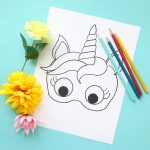 Unicorn Masks To Print And Color {Free Printable}   It's Always Autumn   Free Printable Paper Masks