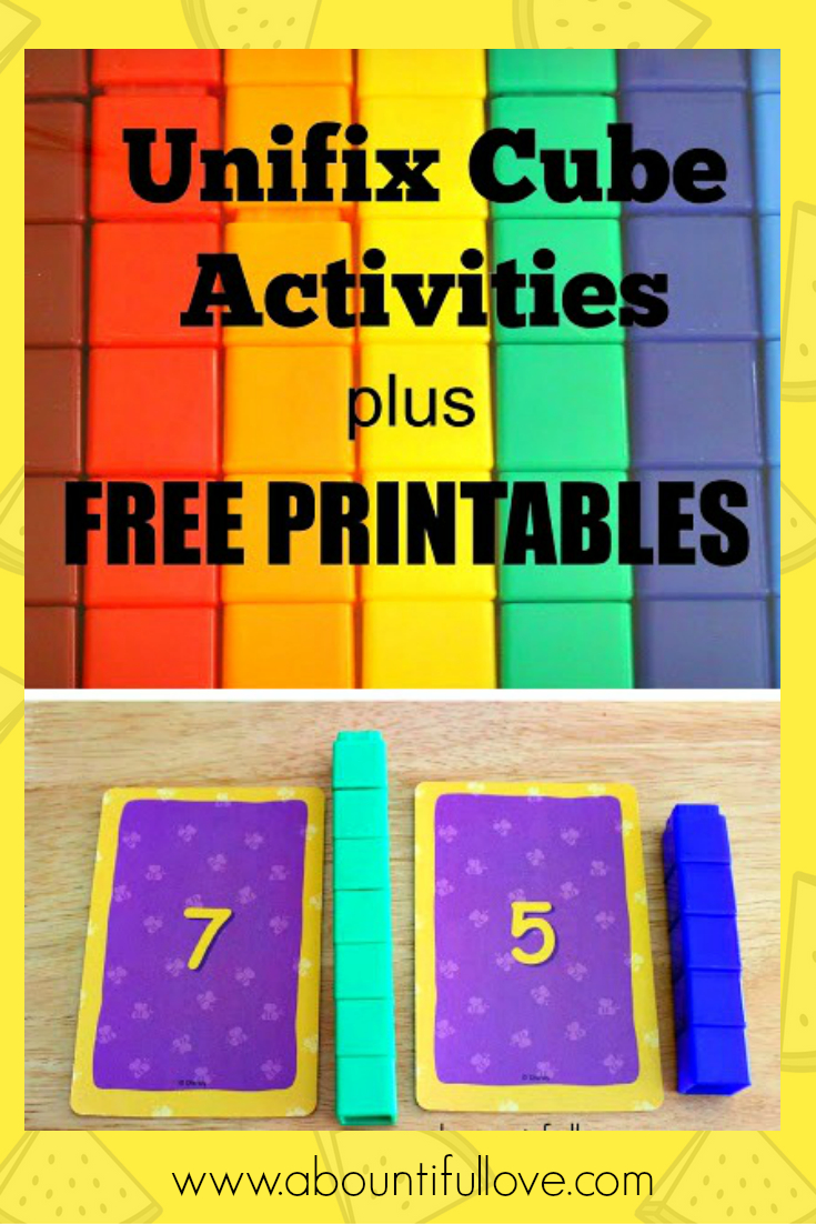 Unifix Cubes Activities Plus Free Printables | Snap Cards - Free Printable Snap Cards