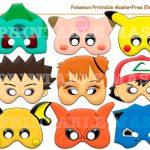 Unique Pokemon Printable Masks+Freeholidaypartystar On Zibbet   Free Printable Pokemon Masks