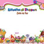 Updated   Free Printable Shopkins Birthday Invitation | Free   Free Printable Shopkins Thank You Cards