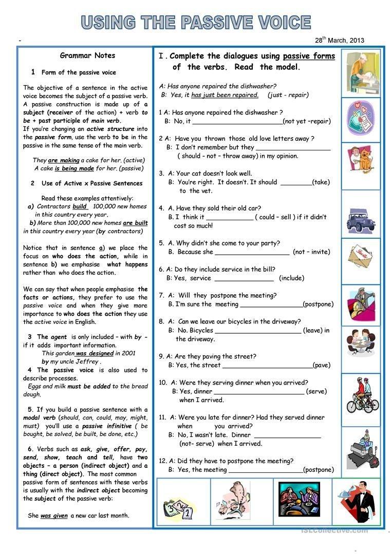 Using The Passive Voice Worksheet - Free Esl Printable Worksheets - Free Printable English Lessons
