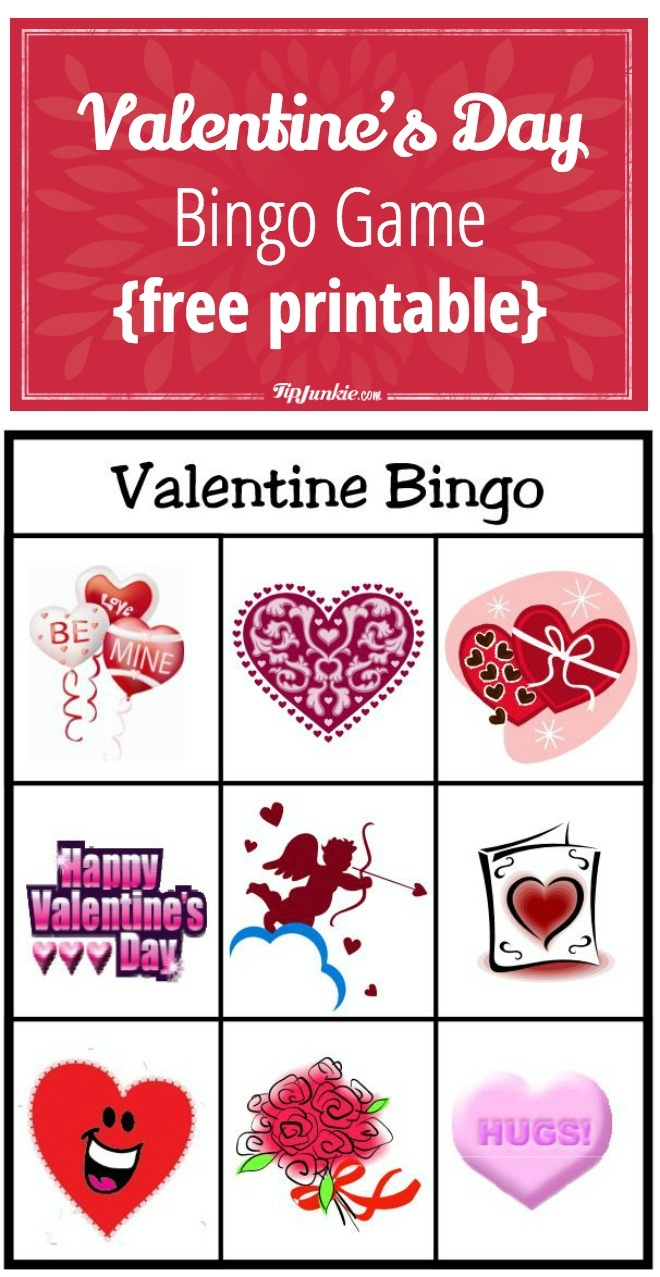 Valentine's Day Bingo Game {Free Printable} – Tip Junkie - Free Printable Bingo