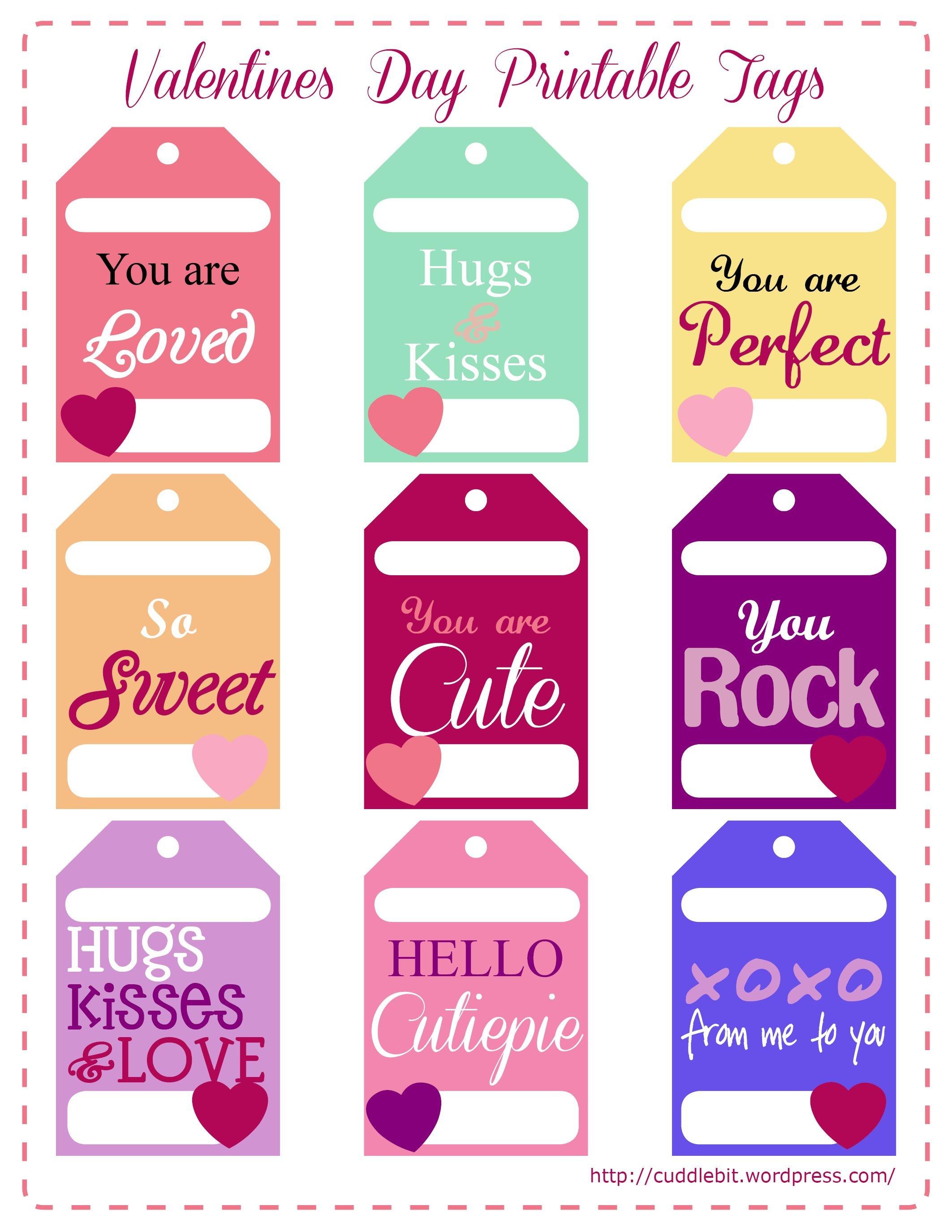 Valentine's Day Love Packs | So Stinking Cute!! | Valentine - Free Printable Valentine Tags