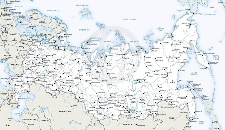 Free Printable Map Of Russia