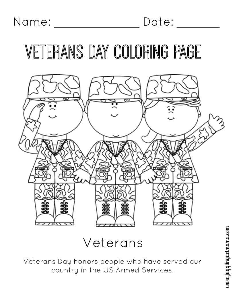 Veteran's Day Printable Coloring Page   Coloring Pages   Veterans - Veterans Day Free Printable Cards