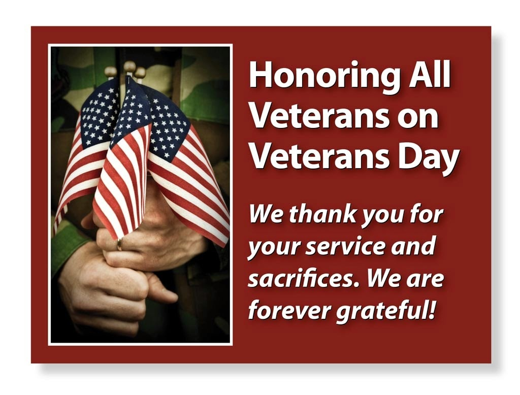 Veterans Day Thank You Messages 2018 - Free Printable Calendar - Veterans Day Free Printable Cards