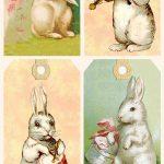 Vintage Easter Bunny Tags – Free Printables | Easter | Easter Crafts   Free Printable Vintage Easter Images