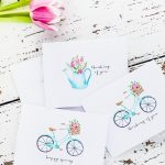 Vintage Style Spring Notecards & Stationery | For The Home | Free   Free Printable Spring Stationery