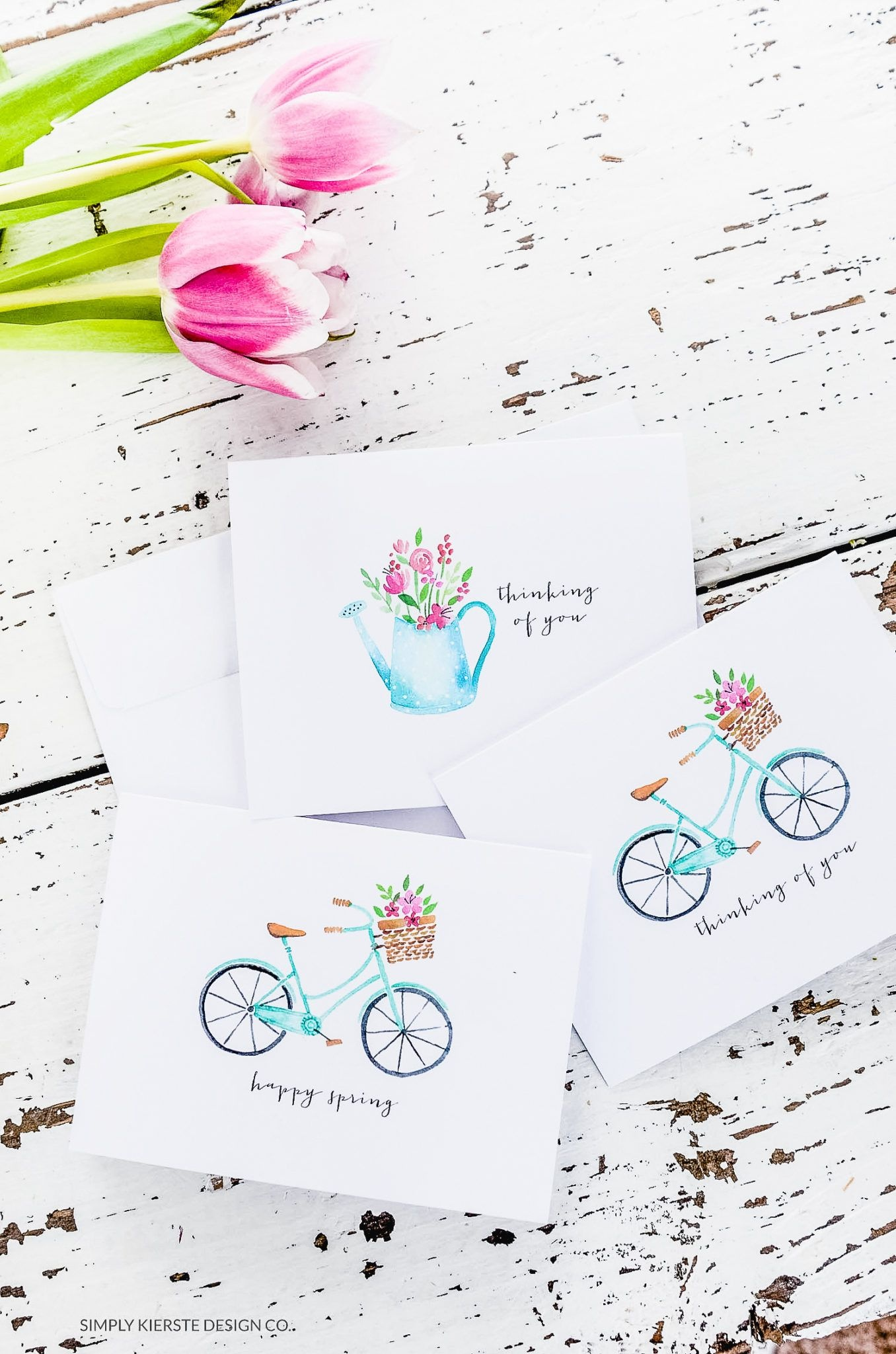 Vintage Style Spring Notecards & Stationery | For The Home | Free - Free Printable Spring Stationery