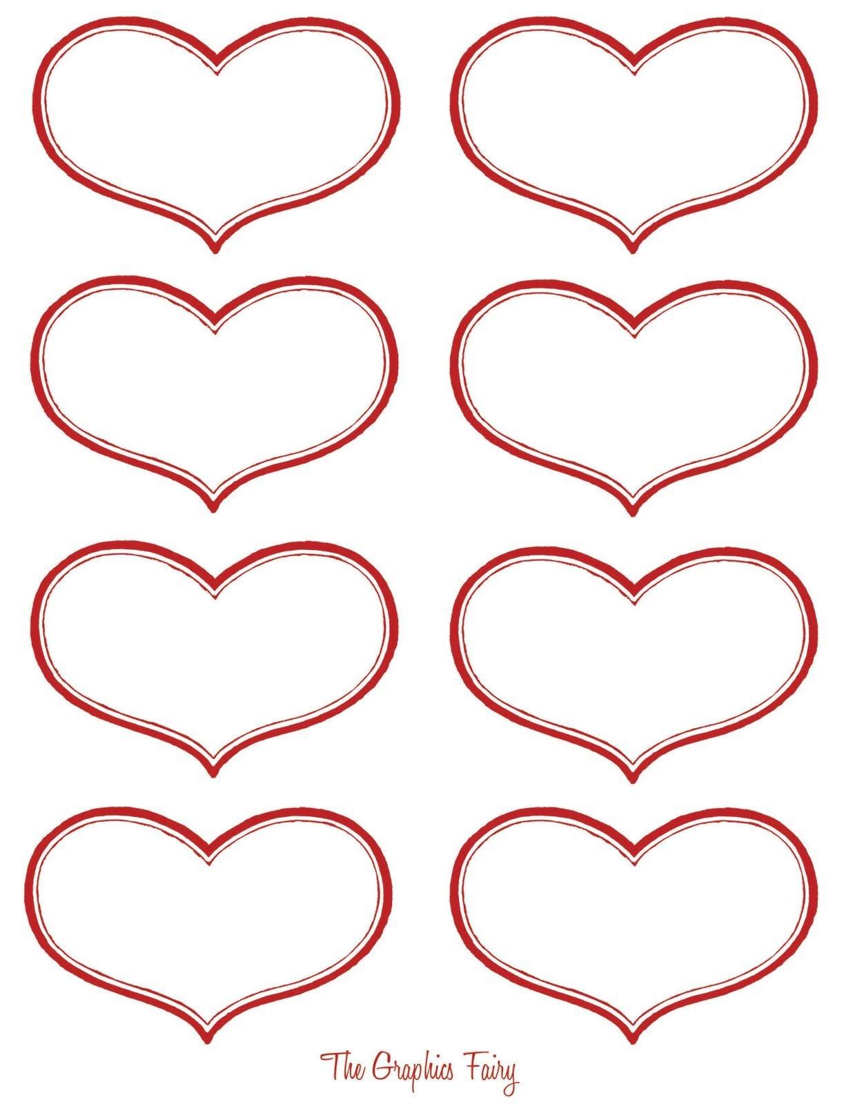 Vintage Valentine Printable - Antique Heart Labels | Diy Ideas - Free Printable Heart Labels