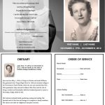 Virgin Mary Memorial Program | Funeral | Memorial Service Program – Free Printable Funeral Program Template