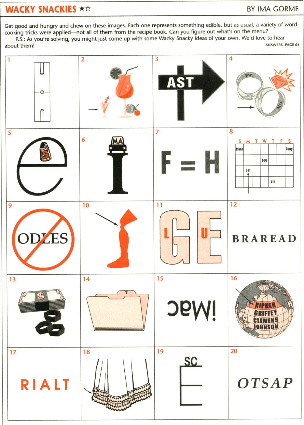 Wackie Wordies #73 | Brain Teasers | Word Puzzles, Brain Teasers - Free Printable Word Winks