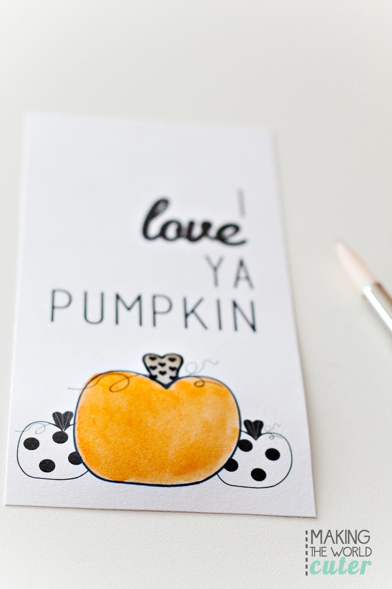 Watercolor-Pumpkin-Gift-Tags - Free Printable Pumpkin Gift Tags