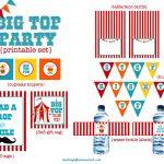 We Heart Parties: Free Printables Big Top Circus Party Free Printables   Free Printable Carnival Decorations