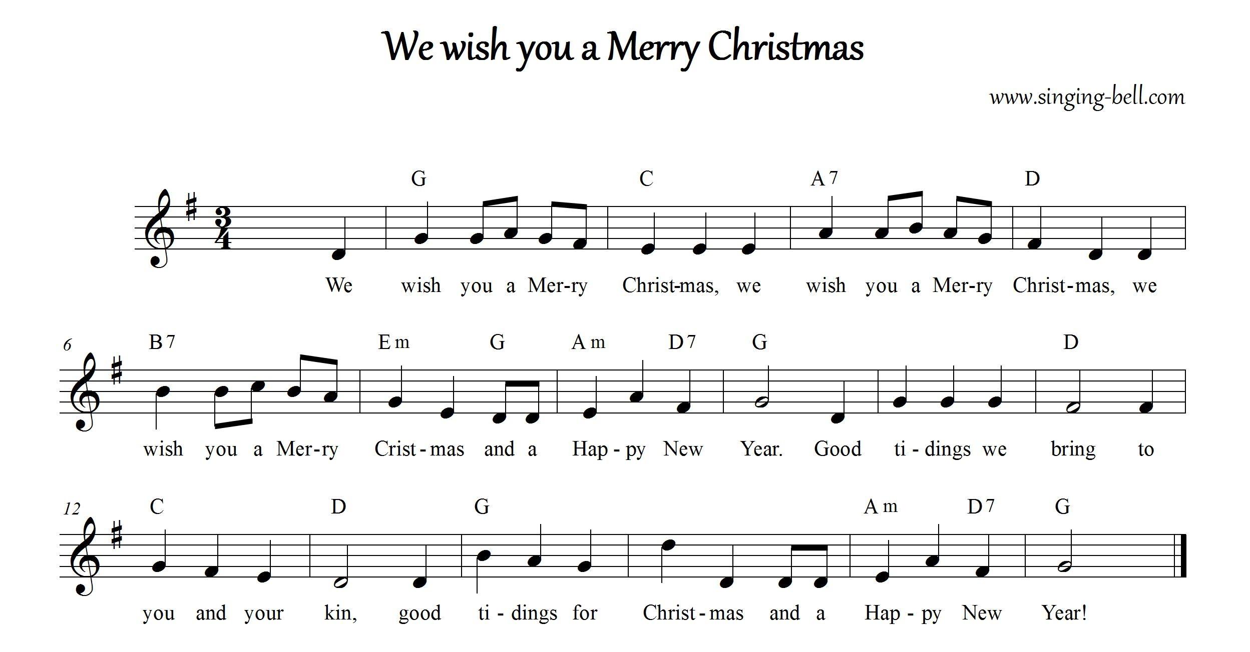 We Wish You A Merry Christmas | Karaoke Carols For Kids - Free Printable Lyrics To Christmas Carols
