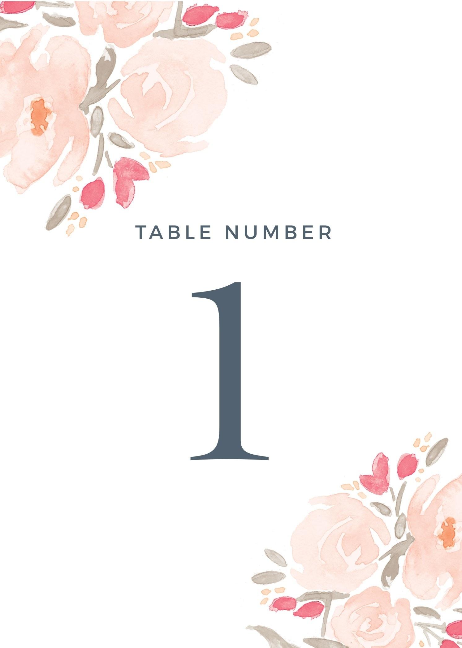 Wedding Table Numbers | Printable Pdfbasic Invite - Free Printable Table Numbers