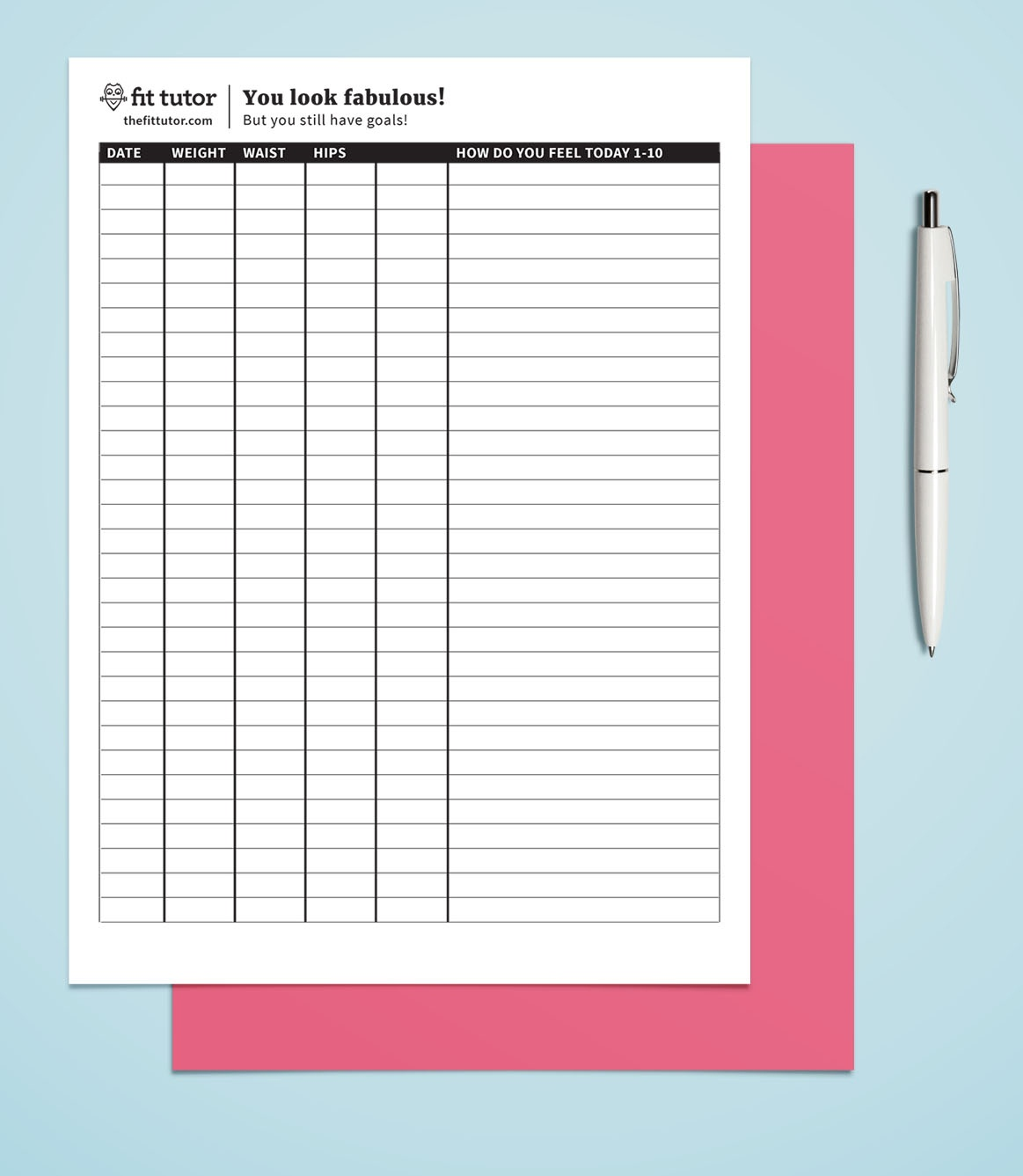 Weight Loss Chart - Free Printable - Reach Your Weight Loss Goals - Free Printable Weight Loss Tracker Chart