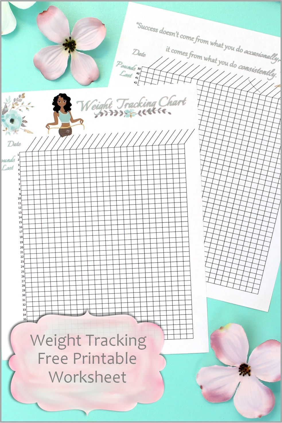 Weight Tracking Chart Free Printable Worksheet – Smart And Savvy Mom - Free Printable Weight Loss Tracker Chart