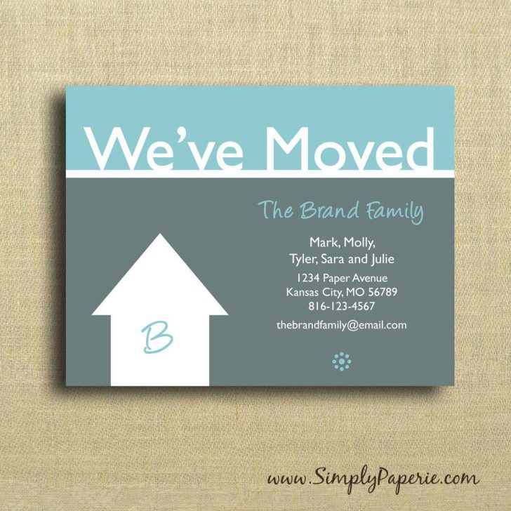 We Are Moving Cards Free Printable