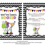 We've Been Boozed! {Free Printable} | Miscellaneous | Halloween   You Ve Been Boozed Free Printable