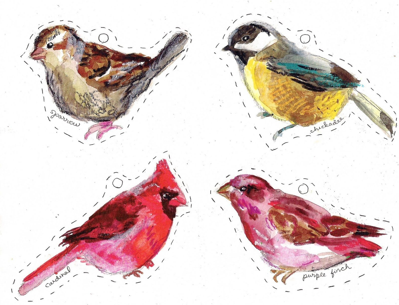 Winter Birds Free Printables | Craft | Gift Tags Printable, Birds - Free Printable Images Of Birds