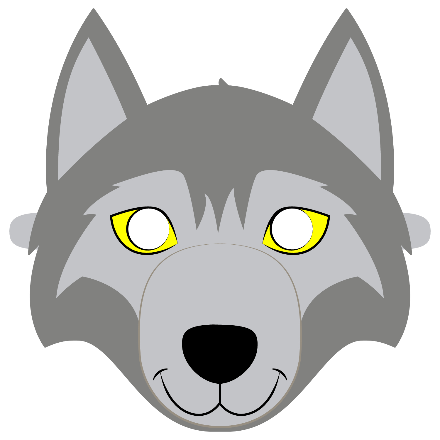 Wolf Mask Template | Free Printable Papercraft Templates - Free Printable Wolf Mask