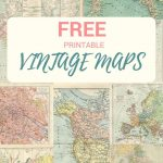 Wonderful Free Printable Vintage Maps To Download | Printables | Map   Free Printable Maps