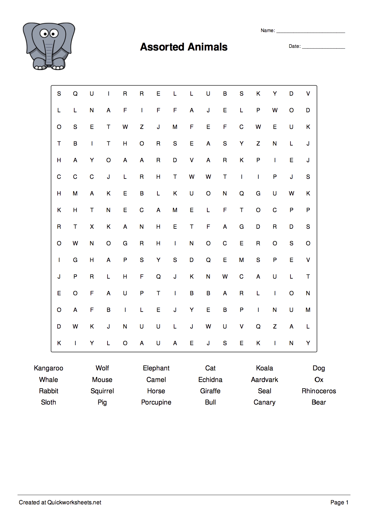 Word Scramble, Wordsearch, Crossword, Matching Pairs And Other - Free Printable Spelling Worksheet Generator