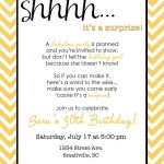 Wording For Surprise Birthday Party | Free Printable Birthday   Free Printable Surprise 60Th Birthday Invitations