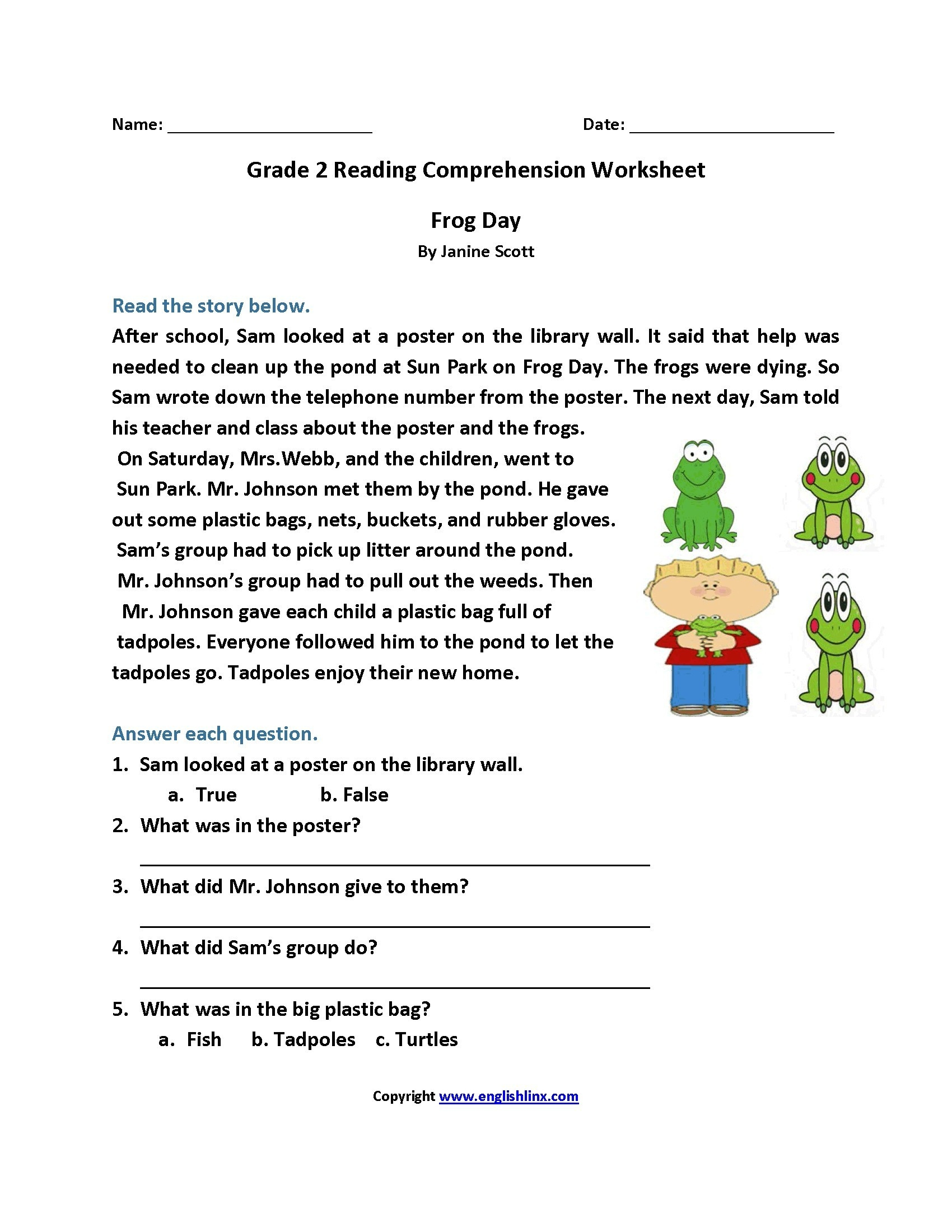 Worksheet : Free Printable Short Stories With Comprehension - Free Printable Stories For 4Th Graders