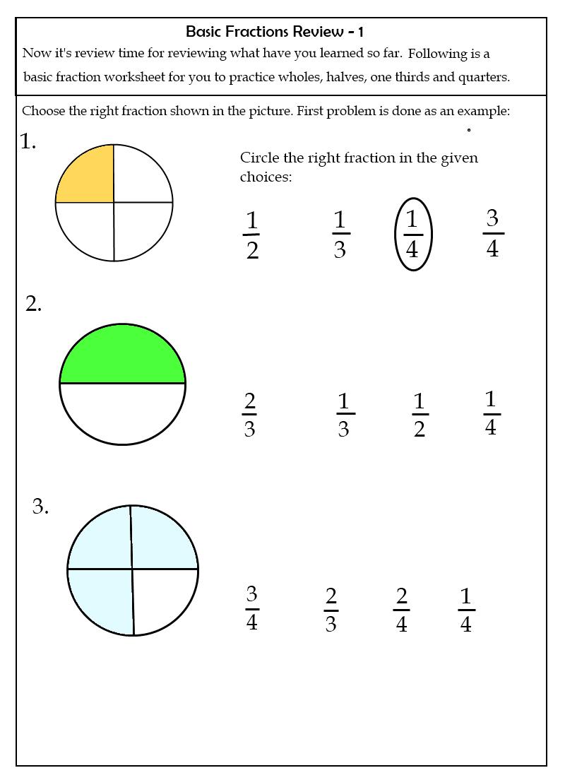Worksheets | Grade Two Fraction Worksheets 7 2Nd Grade Fraction - Free Printable First Grade Fraction Worksheets