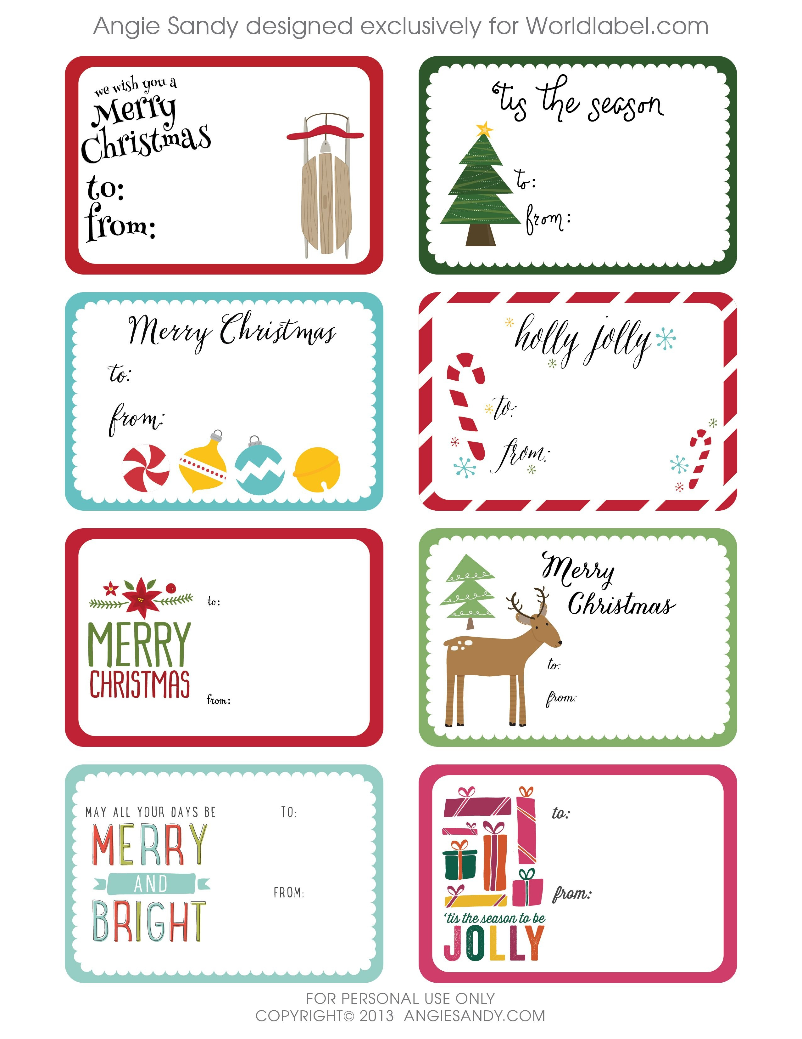 World Label Exclusive Christmas Gift Tag Printable | Christmas - Christmas Labels Free Printable Templates