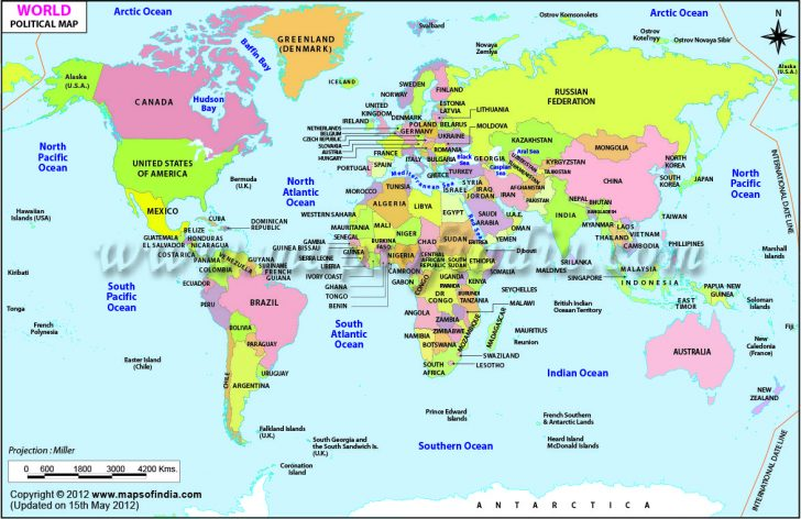 Free Printable World Maps Online